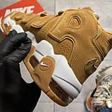 🔥 ВИДЕО ОБЗОР 🔥 Nike Air More Uptempo Brown Fleecy Skin Найк Аир 🔥 Найк мужские кроссовки 🔥, фото 6
