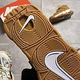 🔥 ВИДЕО ОБЗОР 🔥 Nike Air More Uptempo Brown Fleecy Skin Найк Аир 🔥 Найк мужские кроссовки 🔥, фото 5
