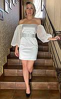 Эффектное нарядное платье с открытыми плечами Kiwe.Турция