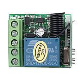 433МГц одноканальный беспроводной выключатель на 12В с таймером + Пульт, фото 6