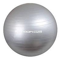 Мяч для фитнеса (фитбол) Profit 65 см, М 0276 gray
