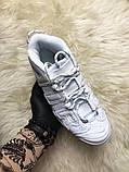 🔥 Nike Air More Uptempo White on White Белый Найк Аир Аптемпо 🔥 Найк мужские кроссовки 🔥, фото 2