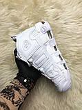 🔥 Nike Air More Uptempo White on White Белый Найк Аир Аптемпо 🔥 Найк мужские кроссовки 🔥, фото 5