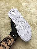 🔥 Nike Air More Uptempo White on White Белый Найк Аир Аптемпо 🔥 Найк мужские кроссовки 🔥, фото 7