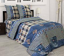 Комплект постельного белья от украинского производителя бязь Деним Семейный