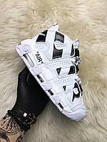 🔥 Nike Air More Uptempo x Off White Белый Найк Аир Аптемпо Офф 🔥 Найк мужские кроссовки 🔥