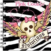 "Блокнот В6 80л = ""Kite"" PI12-221K ""Pink Cookie-2"" спир."
