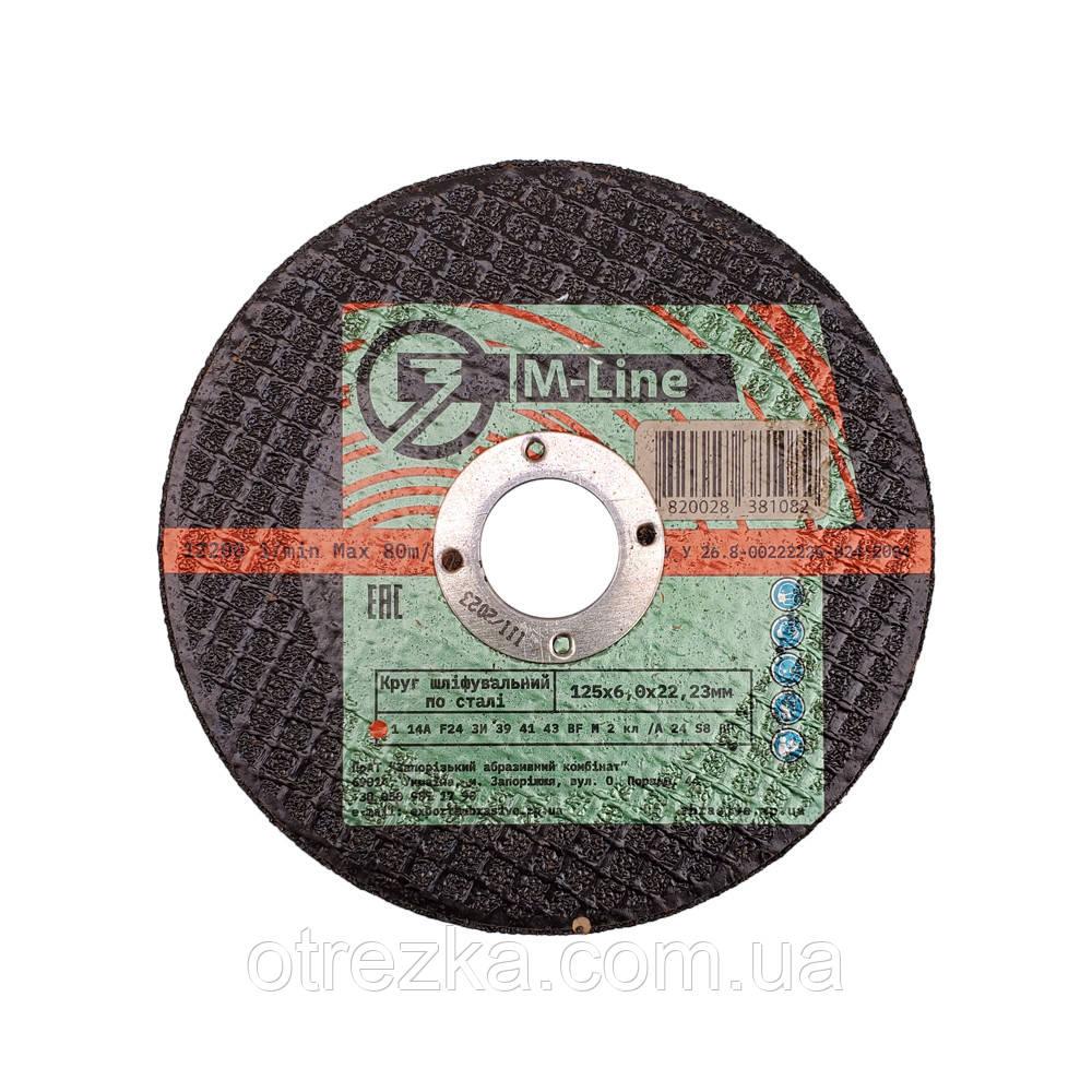 Круг абразивный зачистной по металлу 125*6*22 M-Line (Запорожье)