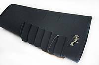 Патронташ на приклад на 6 патронов (7,62 нарезные) неопреновый черный, фото 1