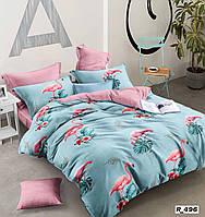 Комплект семейного постельного белья Ranforce розовые фламинго