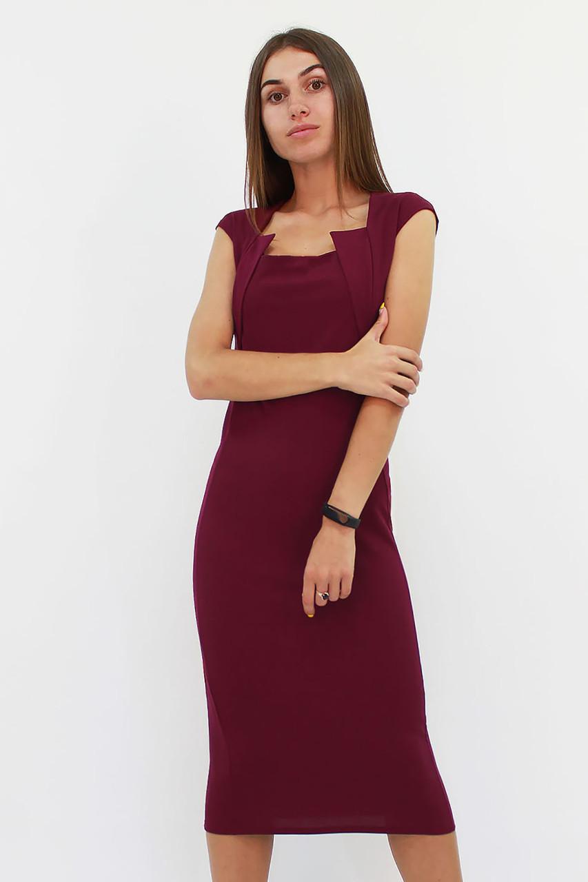 S, M, L, XL   Класичне жіноче плаття-футляр Roksen, марсала