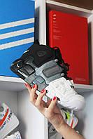 🔥 Nike Air More Uptempo Black Gray White Черный Найк Аир Аптемпо Серый Белый 🔥 Найк мужские кроссовки 🔥