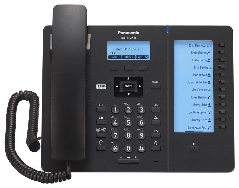Проводной IP-телефон Panasonic KX-HDV230RUB