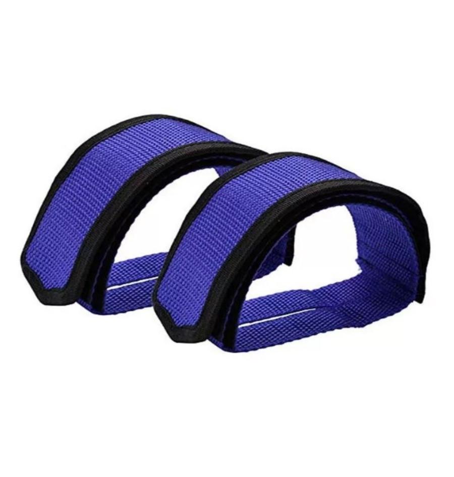 Ремни для педалей Стрепы (Туклипсы) велосипедные ремешки, Синий