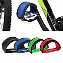 Ремни для педалей Стрепы (Туклипсы) велосипедные ремешки, Синий, фото 2
