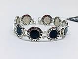Двусторонний брендовый браслет с цирконом и ониксом Бренд, фото 2
