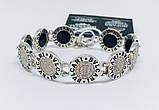 Двусторонний брендовый браслет с цирконом и ониксом Бренд, фото 3