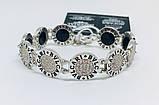 Двусторонний брендовый браслет с цирконом и ониксом Бренд, фото 5
