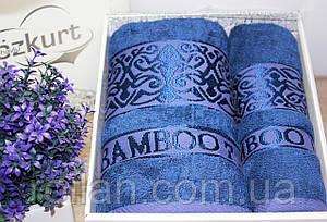 Набор турецких бамбуковых полотенец Абажур