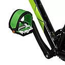 Ремни для педалей Стрепы (Туклипсы) велосипедные ремешки, Салатовый, фото 9