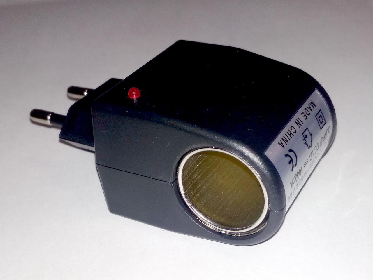Адаптер сетевой 220V/12V 500mA, под гнездо прикуривателя
