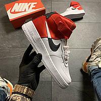 🔥 ВИДЕО ОБЗОР 🔥 Nike Air Force 1 High Red White Серый Найк Аир Форс 1 🔥 Найк мужские кроссовки 🔥