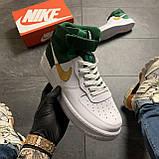 🔥 ВИДЕО ОБЗОР 🔥 Nike Air Force 1 High Green White Белый Найк Аир Форс 1 🔥 Найк мужские кроссовки 🔥, фото 3