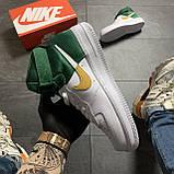 🔥 ВИДЕО ОБЗОР 🔥 Nike Air Force 1 High Green White Белый Найк Аир Форс 1 🔥 Найк мужские кроссовки 🔥, фото 2