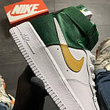 🔥 ВИДЕО ОБЗОР 🔥 Nike Air Force 1 High Green White Белый Найк Аир Форс 1 🔥 Найк мужские кроссовки 🔥, фото 5