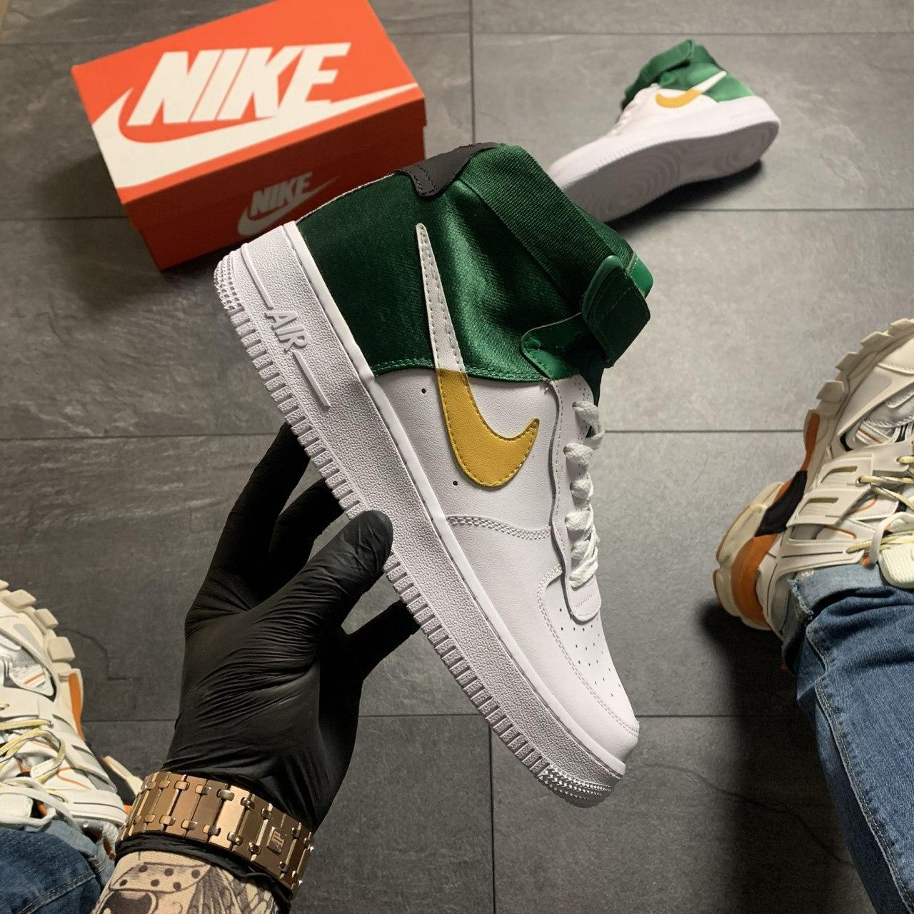🔥 ВИДЕО ОБЗОР 🔥 Nike Air Force 1 High Green White Белый Найк Аир Форс 1 🔥 Найк мужские кроссовки 🔥