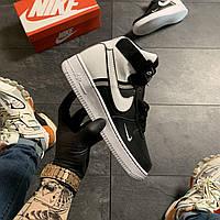 🔥 Nike Air Force 1 High Black White Белый Найк Аир Форс 1 🔥 Найк мужские кроссовки 🔥