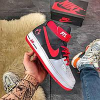 🔥 ВИДЕО ОБЗОР 🔥 Nike Air Force High Black Red Красный Найк Аир Форс 1 🔥 Найк мужские кроссовки 🔥