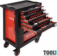 Инструментальная тележка на колёсах с выдвижными ящиками и 211 инструментом Yato YT-55290