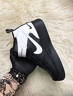 🔥 Nike Air Force 1 High Black White Черный Найк Аир Форс 1 🔥 Найк мужские кроссовки 🔥