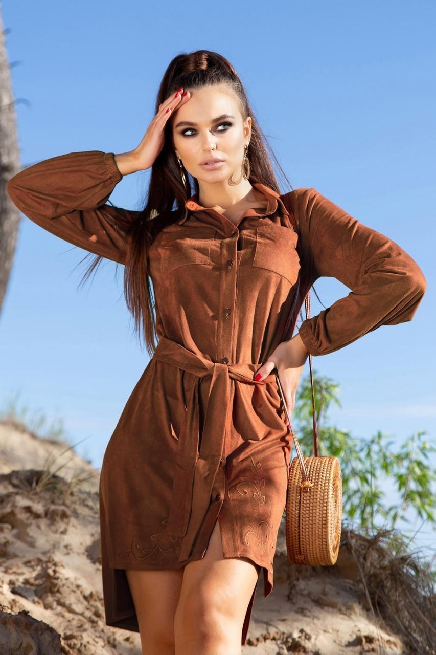 Платье из замша 2021