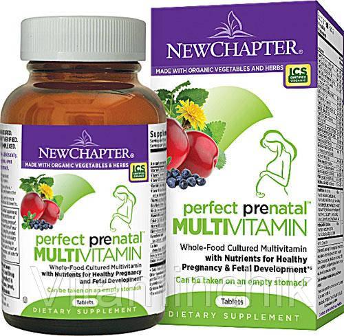 Мультивитамины для Беременных, Perfect Prenatal, New Chapter, 96 таблеток