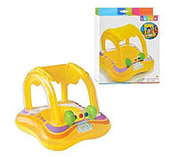 Круг-плотик надувной с навесом для детей Intex 56581