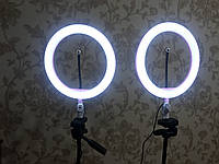 Селфи кольцо лампа 26 см на штативе 2 метра LED подсветкой розовая