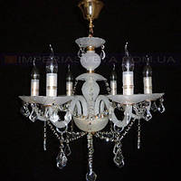 Люстра со свечами хрустальная IMPERIA  шестиламповая LUX-342326