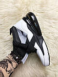 🔥 Nike Air Force 270 White Black Найк Аир 270 Черный Белый 🔥 Найк мужские кроссовки 🔥, фото 2