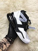 🔥 Nike Air Force 270 White Black Найк Аир 270 Черный Белый 🔥 Найк мужские кроссовки 🔥