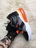 🔥 Nike Air Force 270 Black Orange Найк Аир 270 Белый Оранжевый 🔥 Найк мужские кроссовки 🔥, фото 2