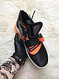 🔥 Nike Air Force 270 Black Orange Найк Аир 270 Белый Оранжевый 🔥 Найк мужские кроссовки 🔥, фото 4