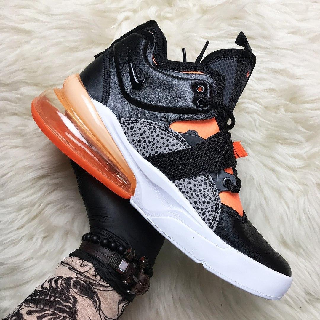 🔥 Nike Air Force 270 Black Orange Найк Аир 270 Белый Оранжевый 🔥 Найк мужские кроссовки 🔥
