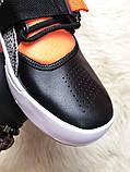 🔥 Nike Air Force 270 Black Orange Найк Аир 270 Белый Оранжевый 🔥 Найк мужские кроссовки 🔥, фото 5