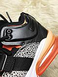 🔥 Nike Air Force 270 Black Orange Найк Аир 270 Белый Оранжевый 🔥 Найк мужские кроссовки 🔥, фото 7