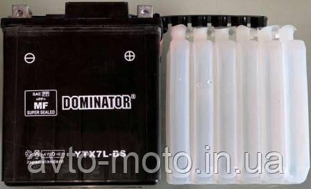 Аккумулятор YTX7L-BS кислотный высокий 130x110x70 DOMINATOR