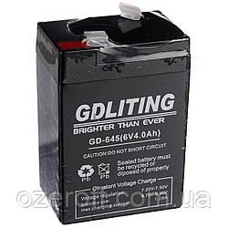 Аккумулятор для торговых весов GDLITING 6 V 4 A (GD-645)