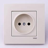 Розетка электрическая VI-KO Karre скрытой установки одинарная без заземления (кремовая)