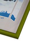 Рамка 25х25 из пластика - Зелёный салатовый - со стеклом, фото 2